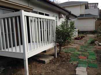 緑区大木戸貸家南側庭